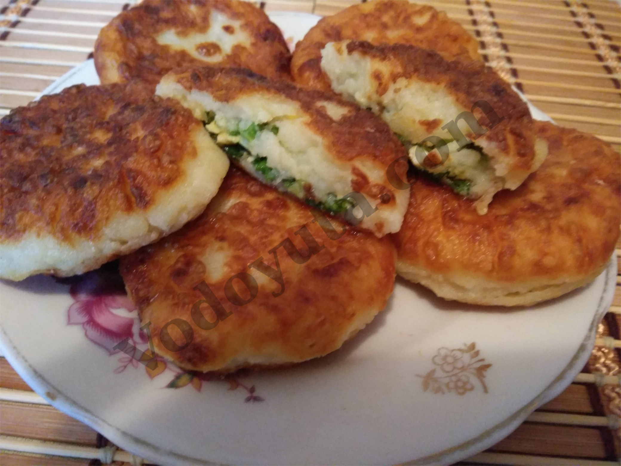 Картофельные зразы с зеленью