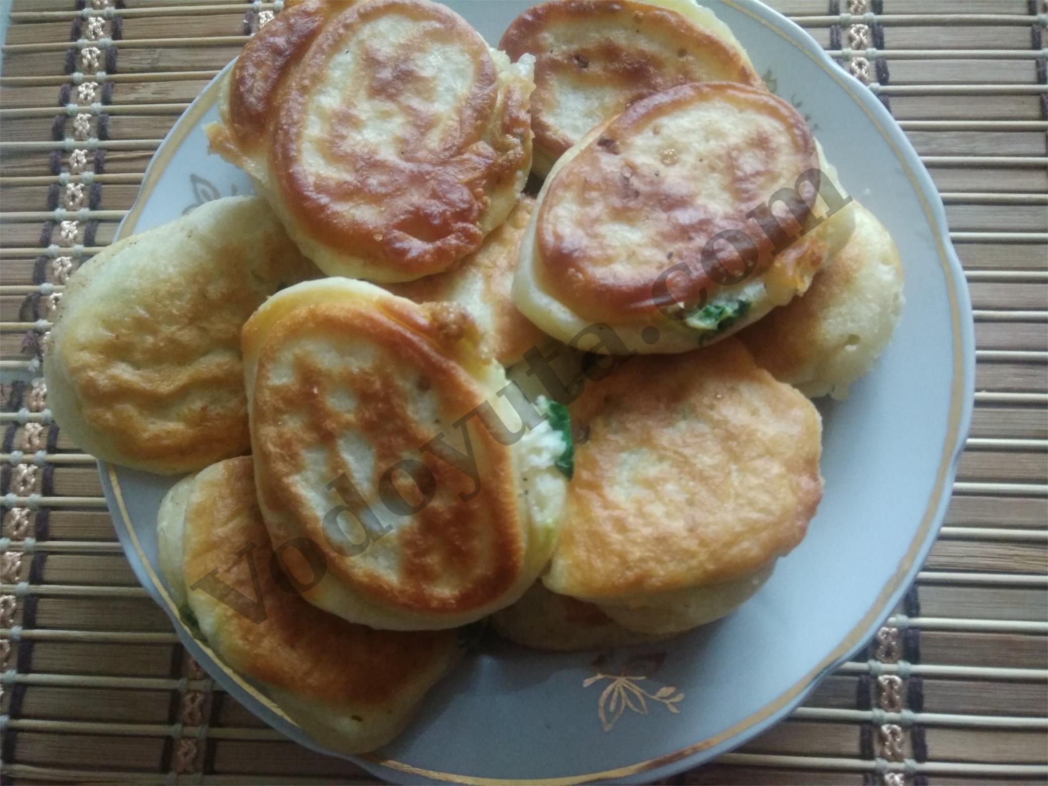 Ленивые пирожки с зеленью