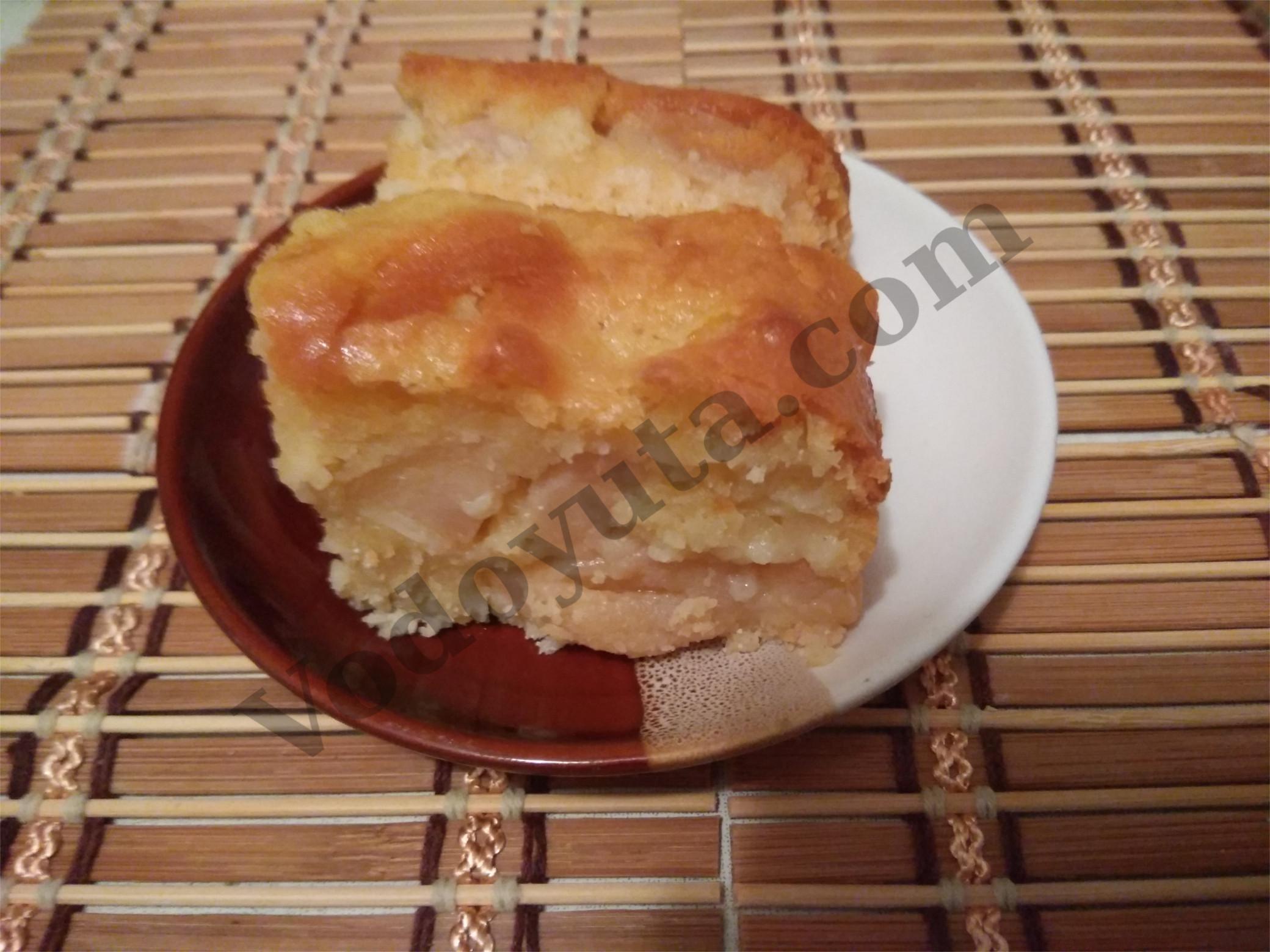 Яблочный пирог со смальцем