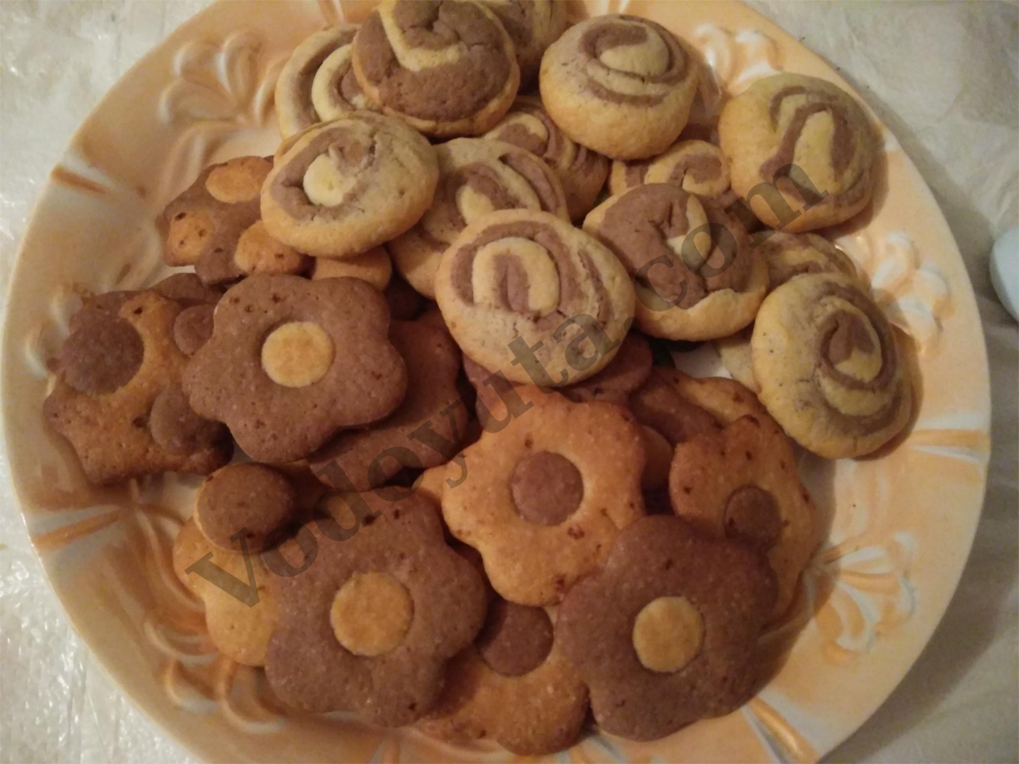 Песочное печенье «Два цвета»