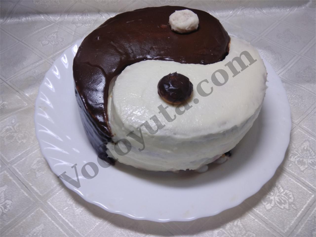 Торт «Инь — янь»