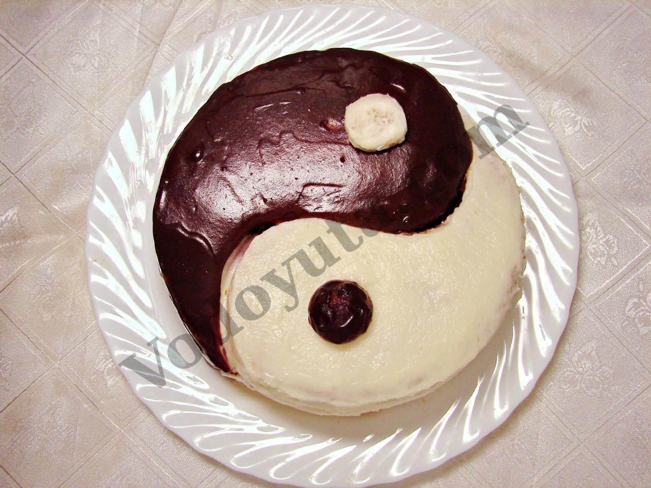 Украшение тортиков. Торт «Инь-янь»