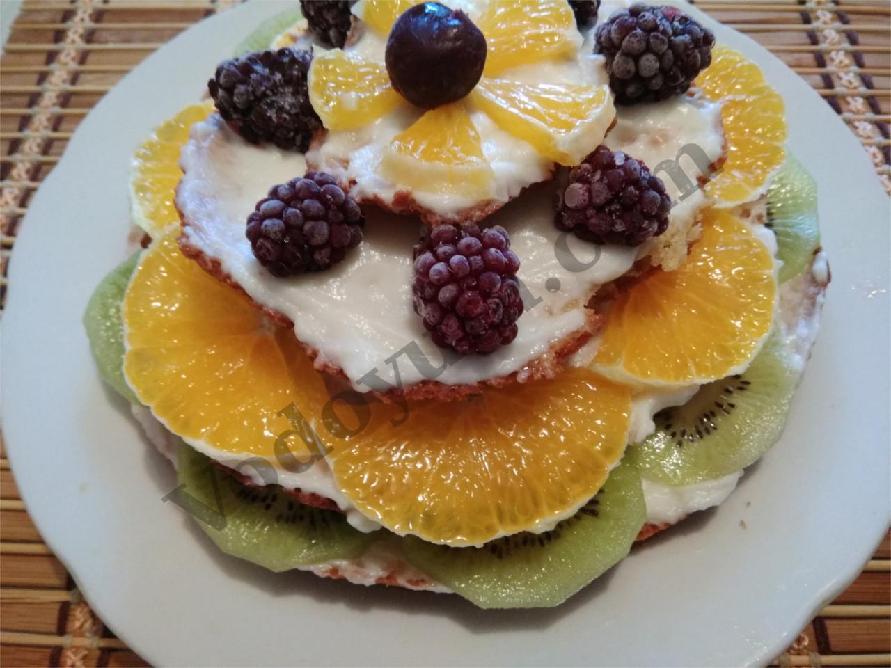 Украшение тортиков. Фруктово-ягодная пирамидка.