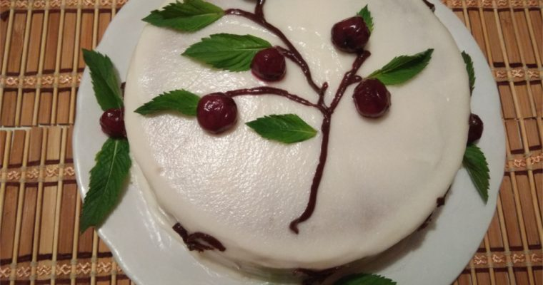 Торт «Вишневая ветка»