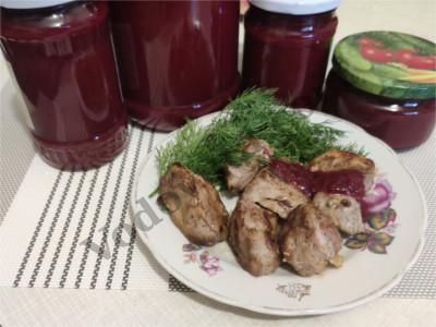 Сливовый соус к мясу или «ткемали» по-славянски :)